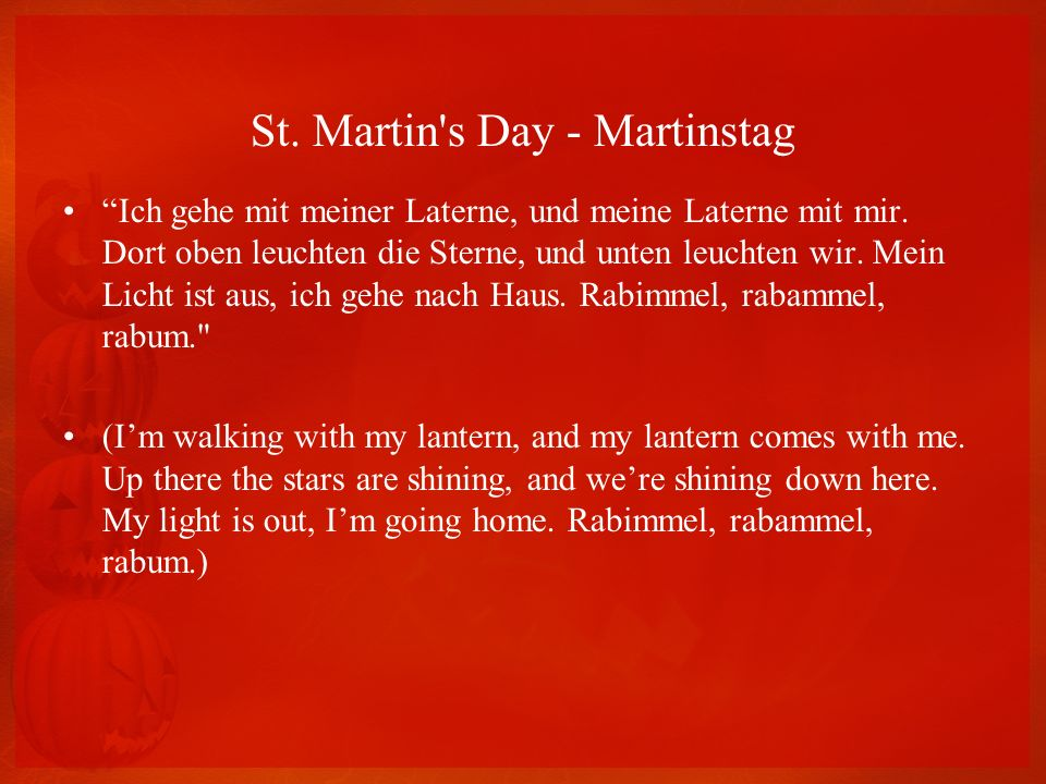 St. Martin s Day - Martinstag