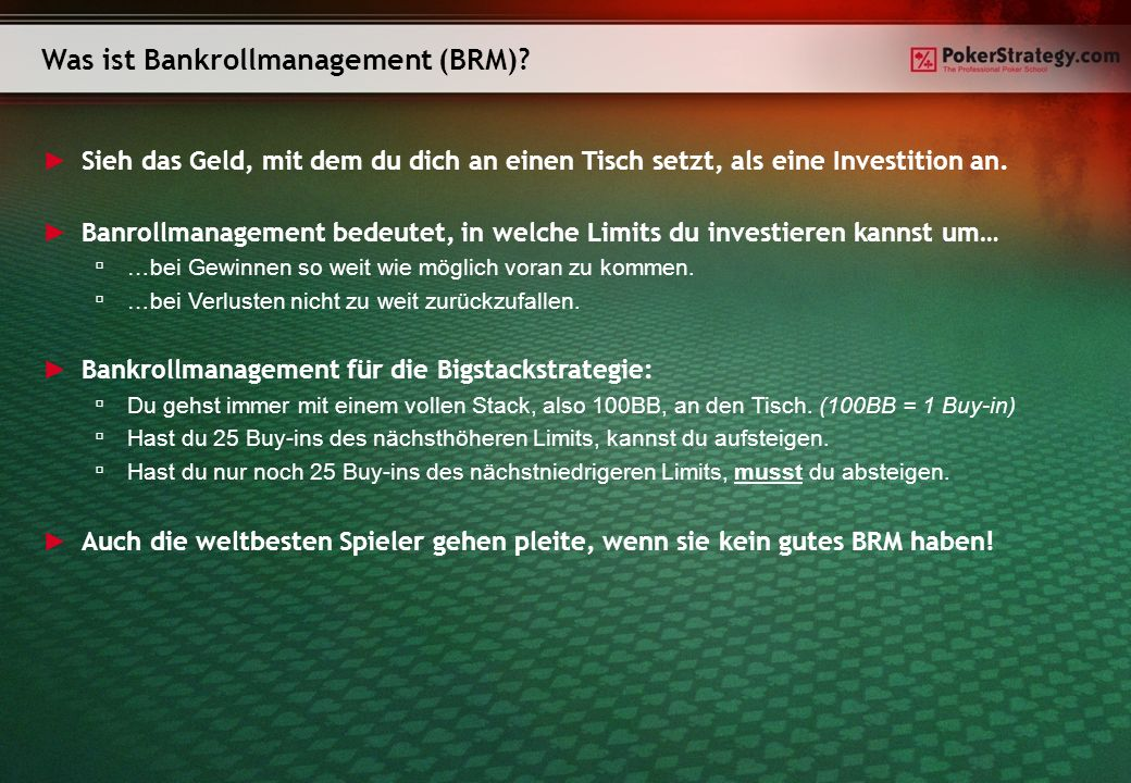 Was ist Bankrollmanagement (BRM)