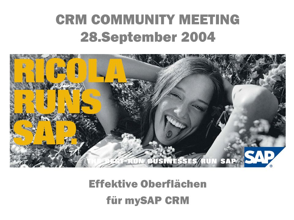 CRM COMMUNITY MEETING 28.September 2004
