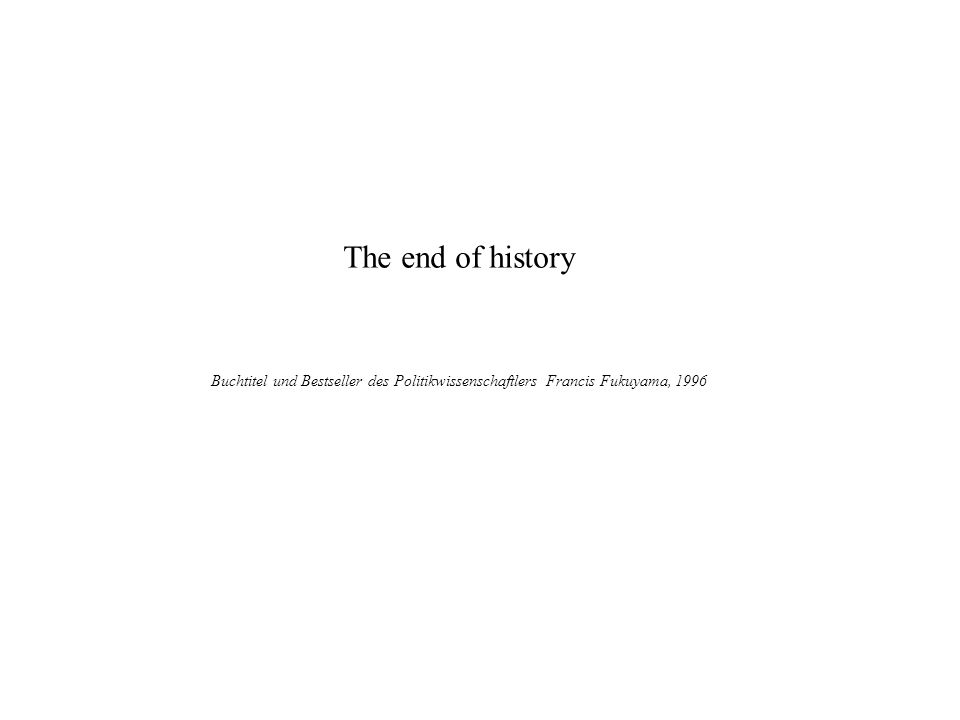 The end of history Plutarch