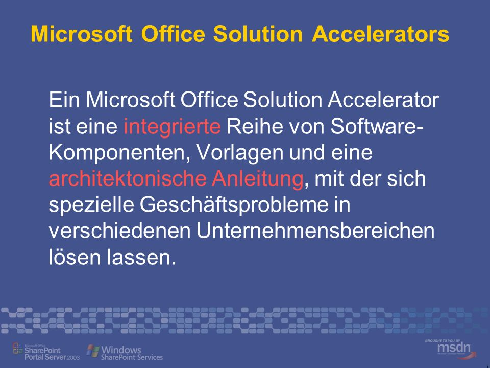 Microsoft Office Solution Accelerators