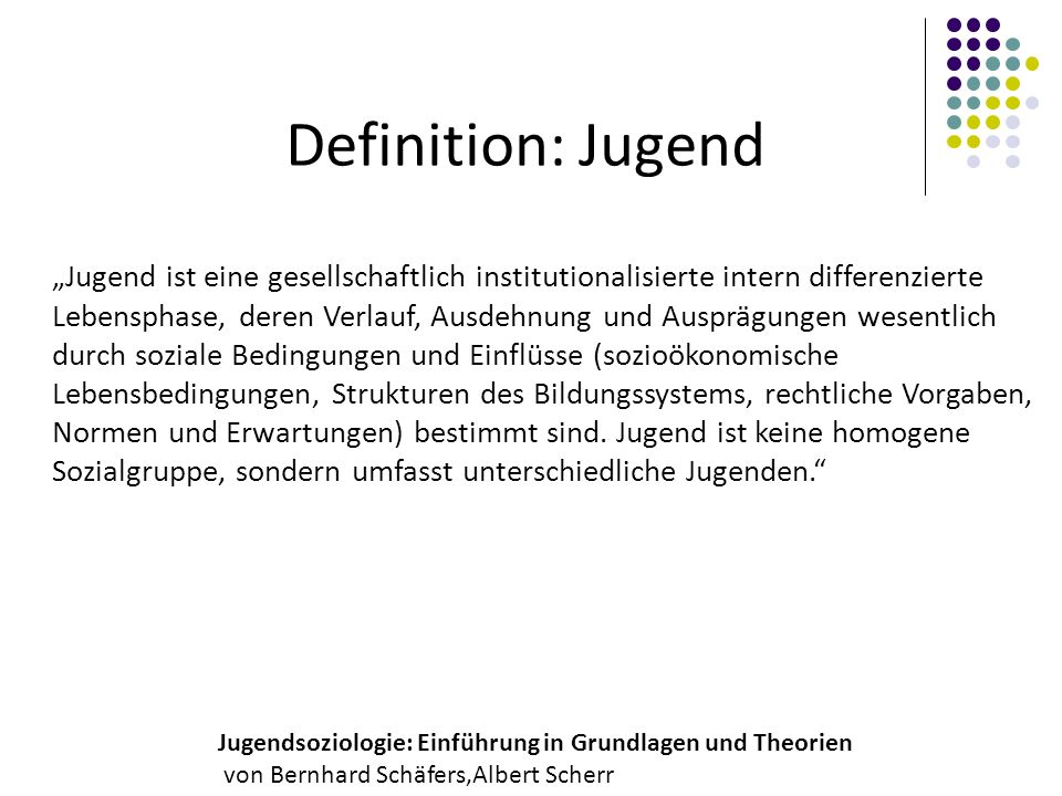 Definition: Jugend