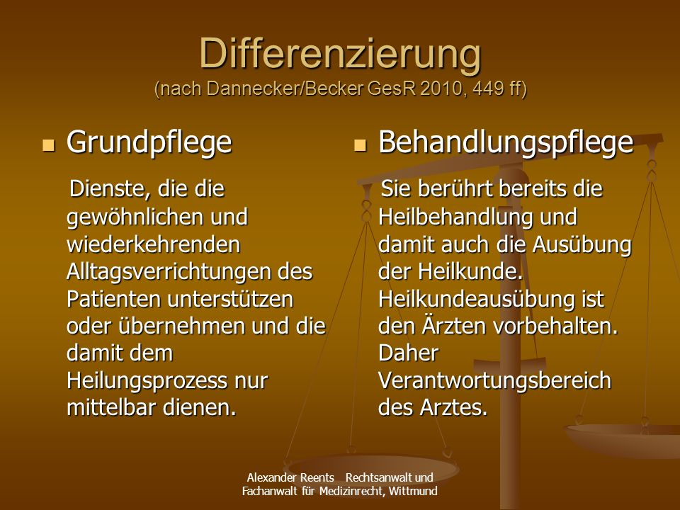 Differenzierung (nach Dannecker/Becker GesR 2010, 449 ff)