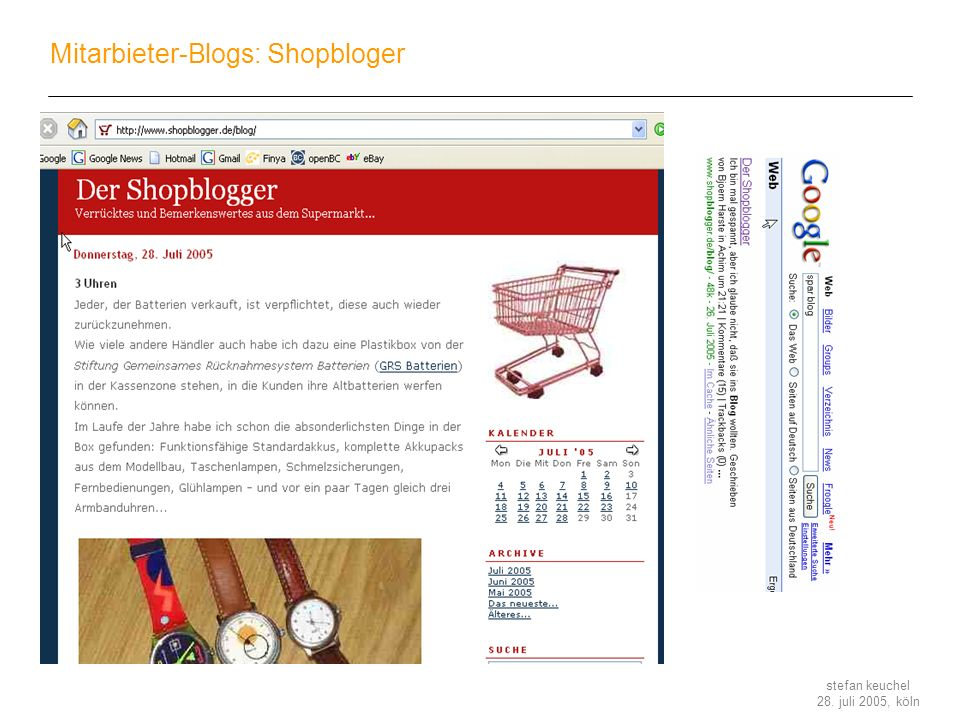 Mitarbieter-Blogs: Shopbloger