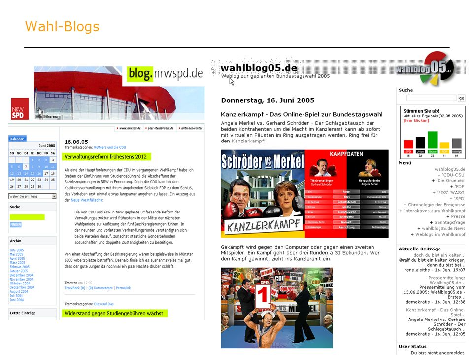 Wahl-Blogs