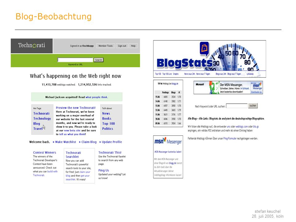 Blog-Beobachtung