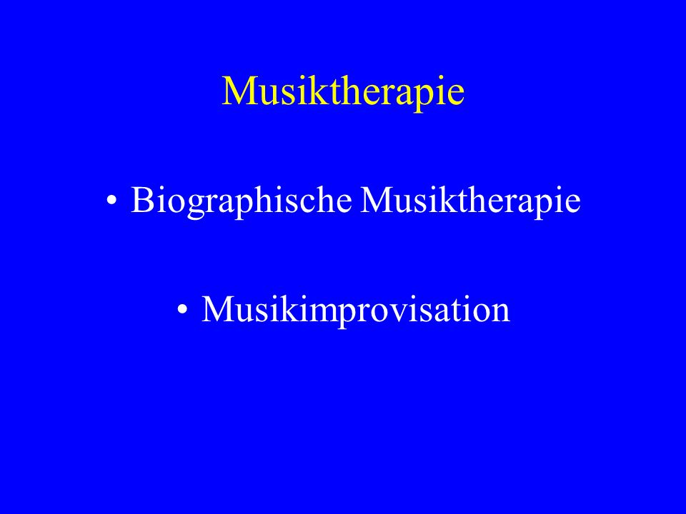 Biographische Musiktherapie