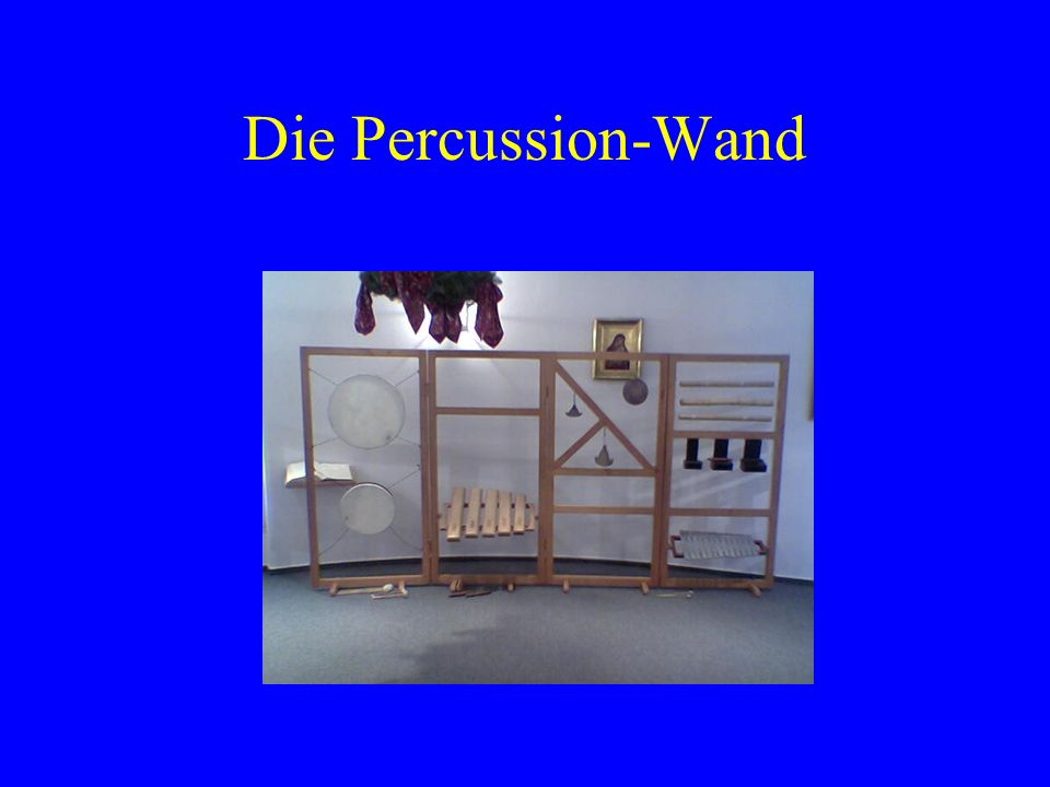 Die Percussion-Wand