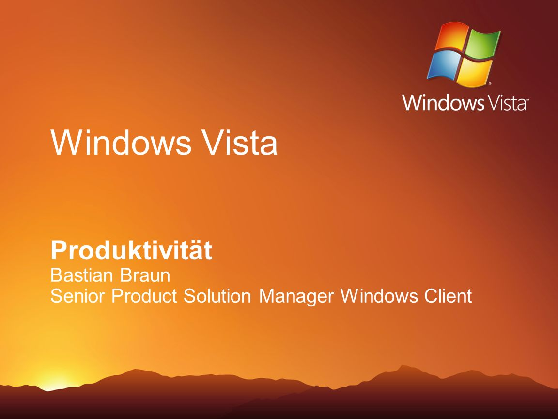 Windows Vista Produktivität Bastian Braun