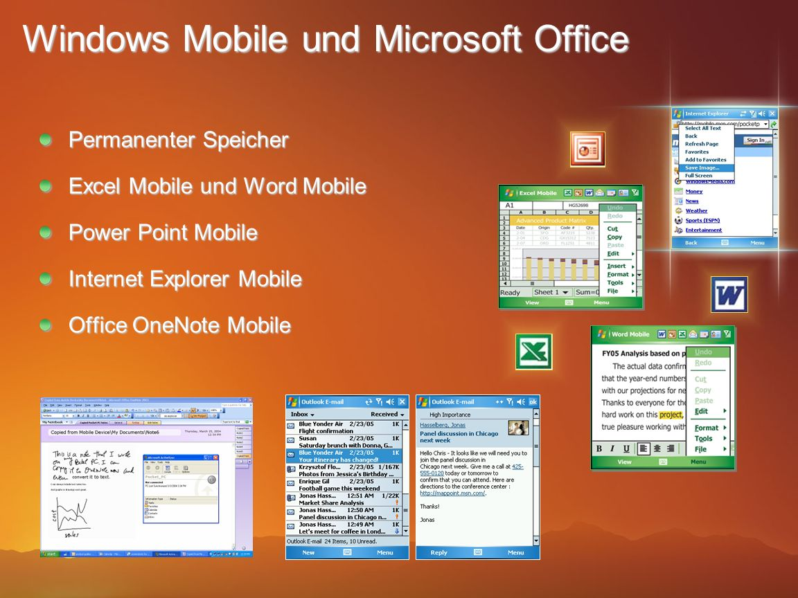Windows Mobile und Microsoft Office