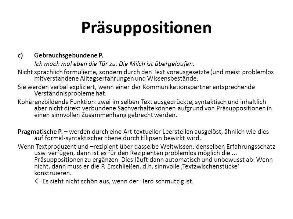 Präsuppositionen