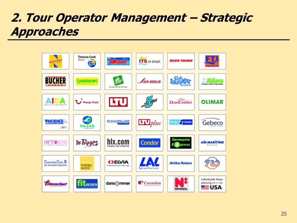 2. Tour Operator Management – Strategic Approaches