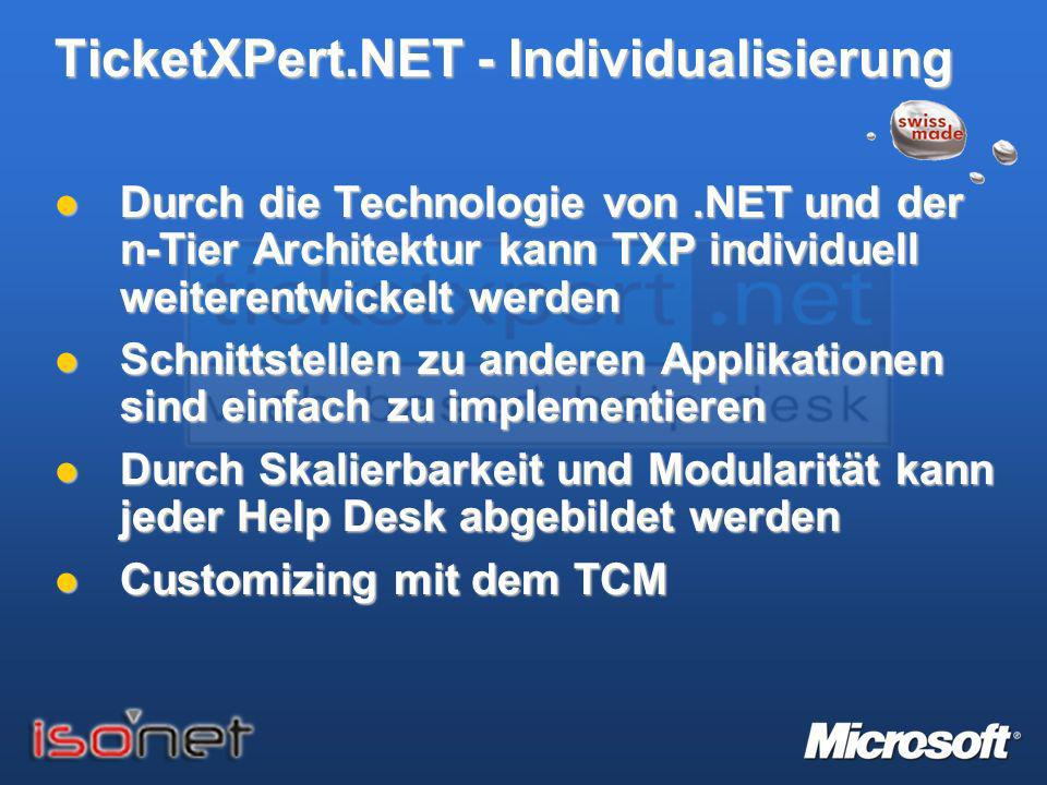 TicketXPert.NET - Individualisierung