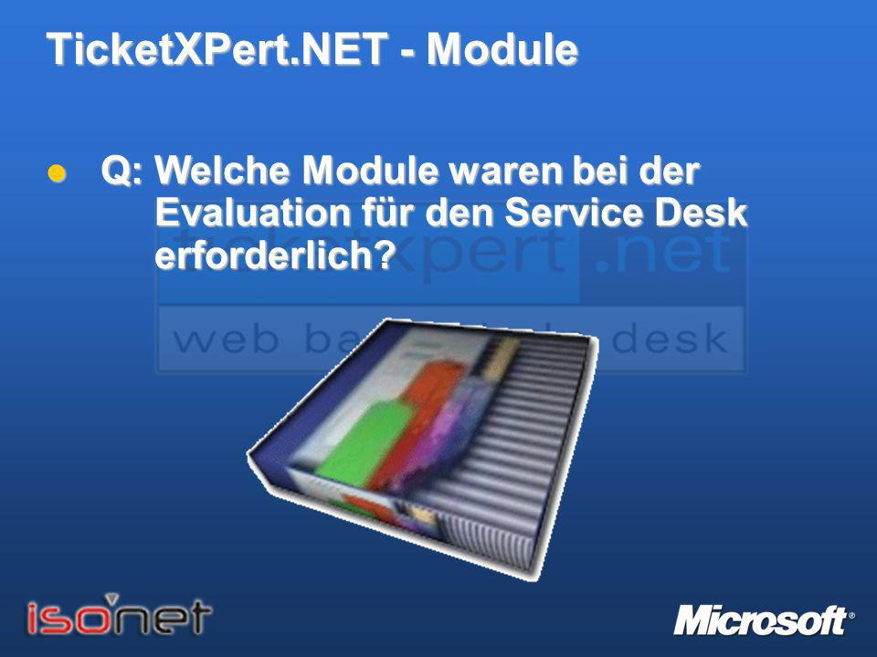TicketXPert.NET - Module