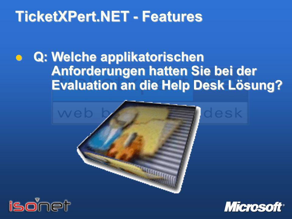TicketXPert.NET - Features