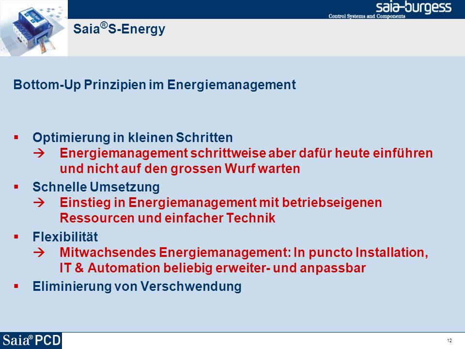 Bottom-Up Prinzipien im Energiemanagement