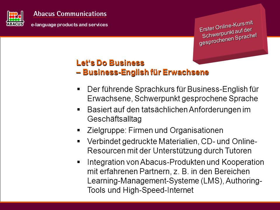 Let's Do Business – Business-English für Erwachsene