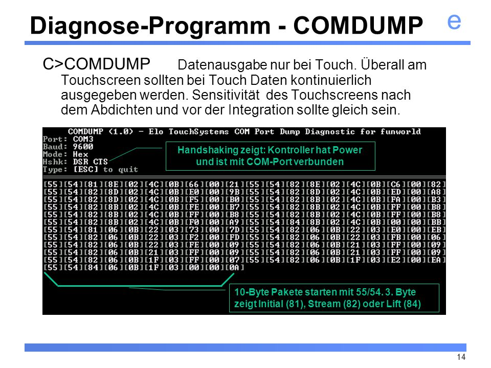 Diagnose-Programm - COMDUMP