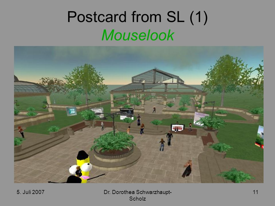 Postcard from SL (1) Mouselook