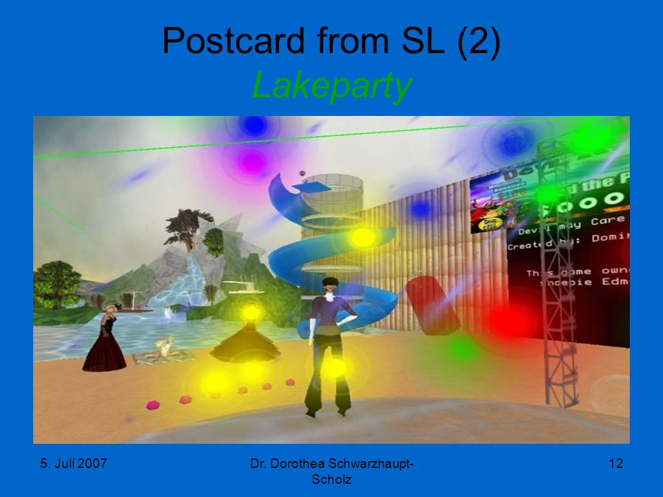 Postcard from SL (2) Lakeparty