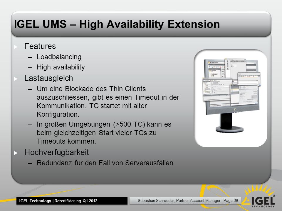 IGEL UMS – High Availability Extension