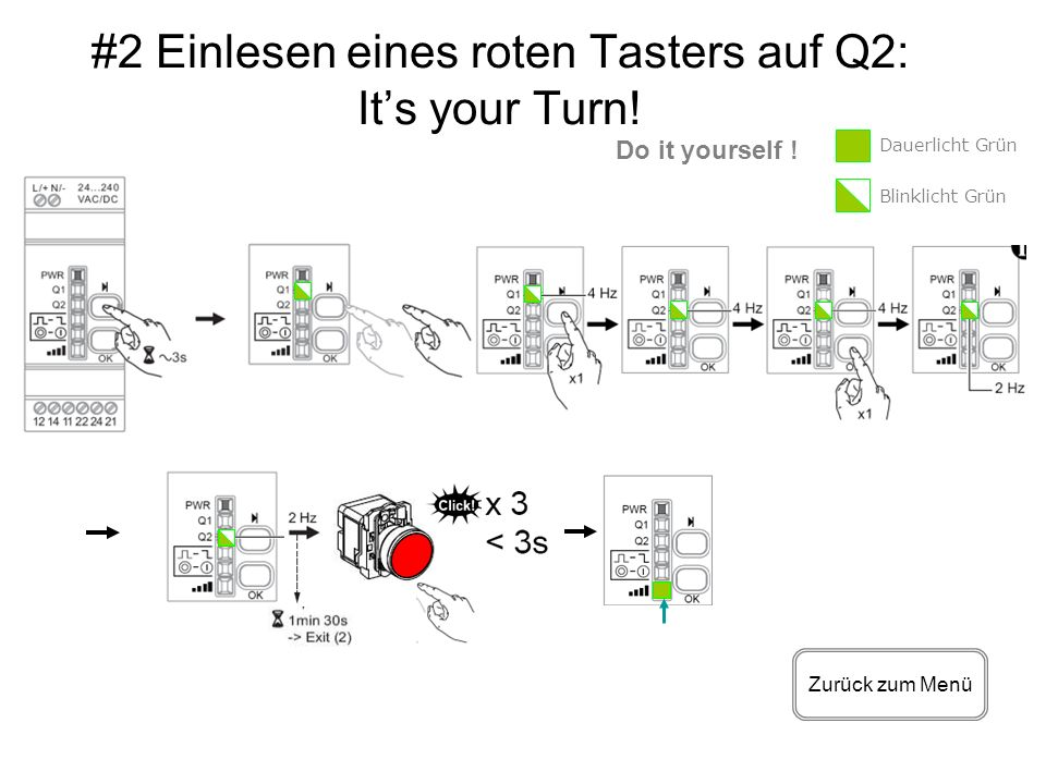 #2 Einlesen eines roten Tasters auf Q2: It's your Turn!