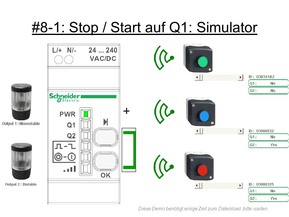 #8-1: Stop / Start auf Q1: Simulator