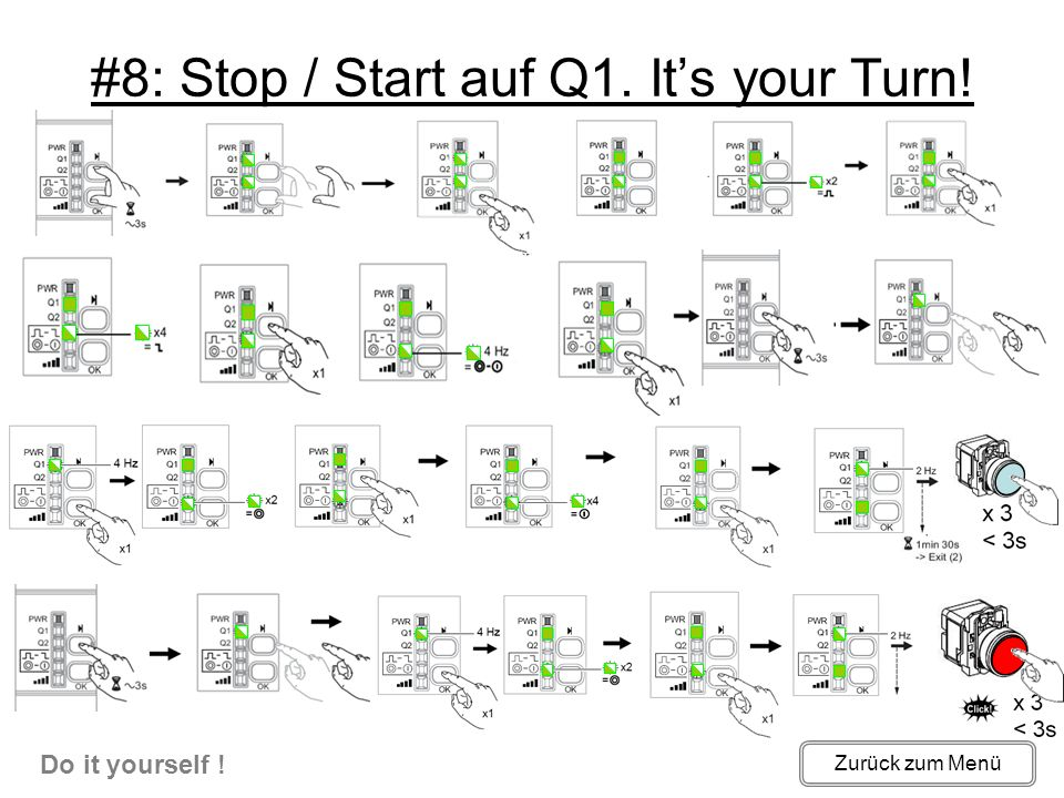 #8: Stop / Start auf Q1. It's your Turn!