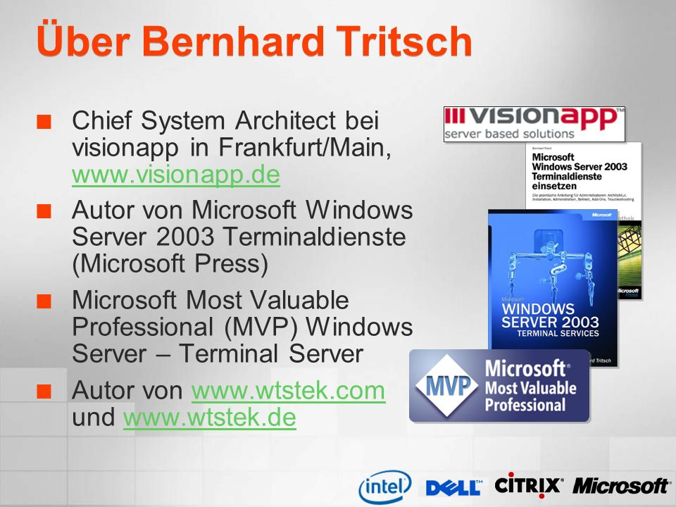Über Bernhard Tritsch Chief System Architect bei visionapp in Frankfurt/Main,