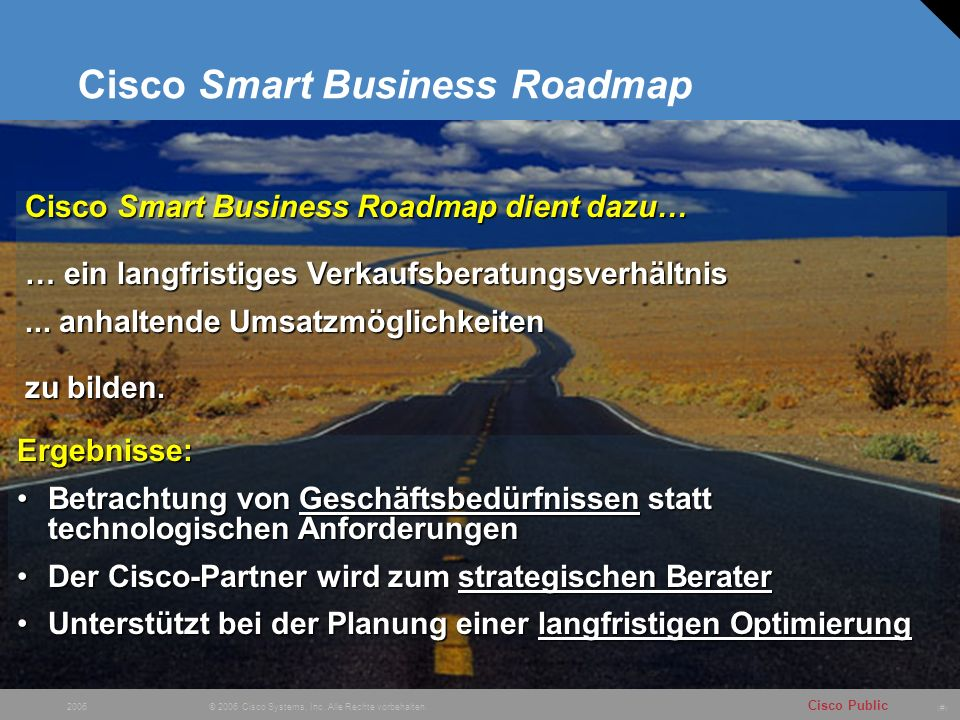 Cisco Smart Business Roadmap