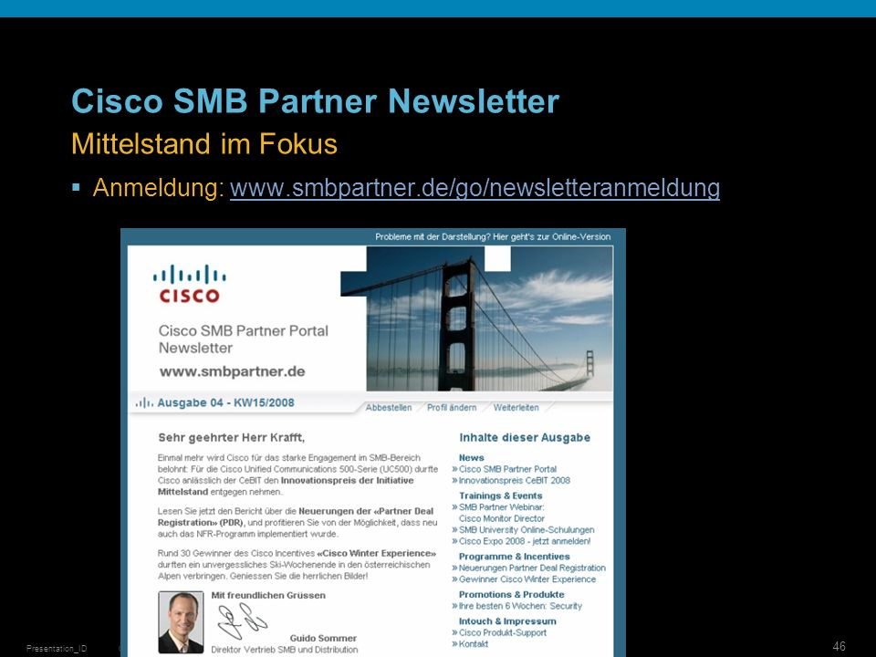 Cisco SMB Partner Newsletter