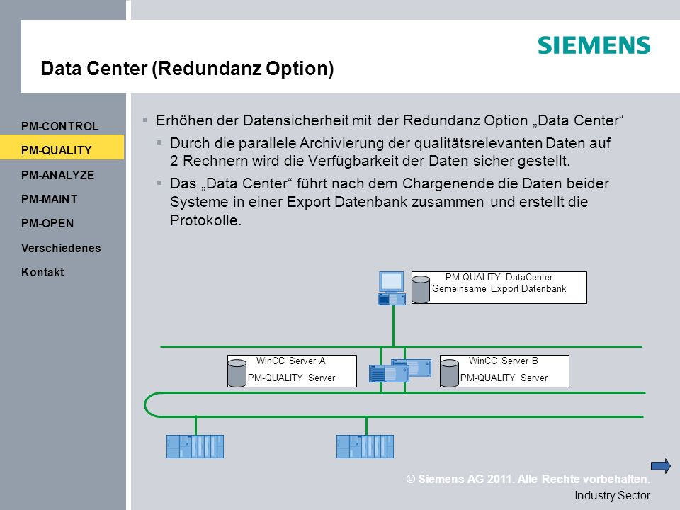 Data Center (Redundanz Option)