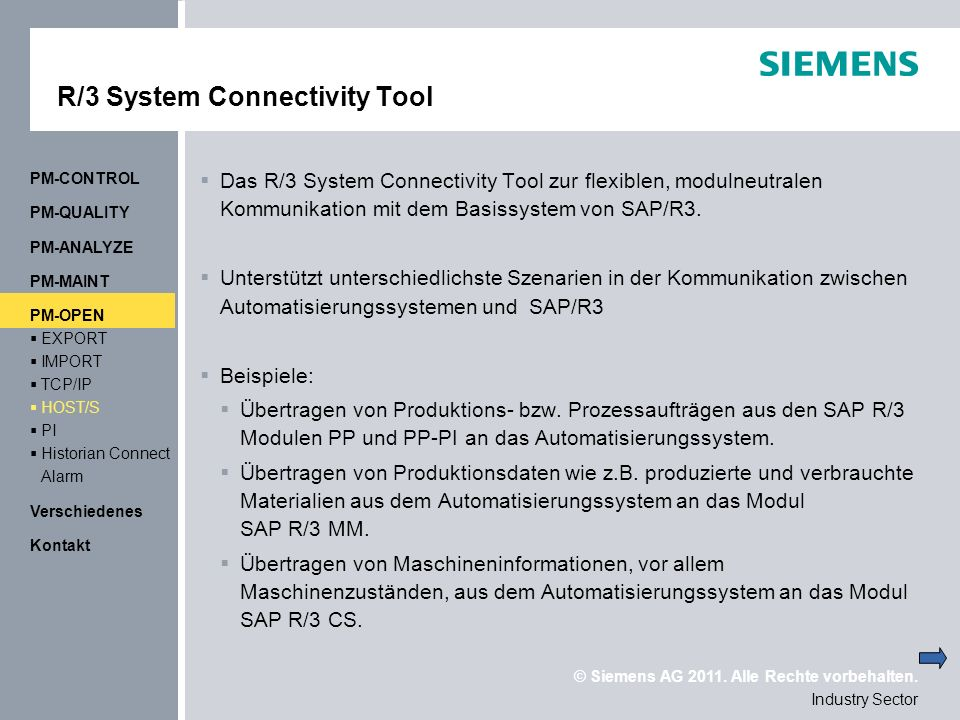 R/3 System Connectivity Tool