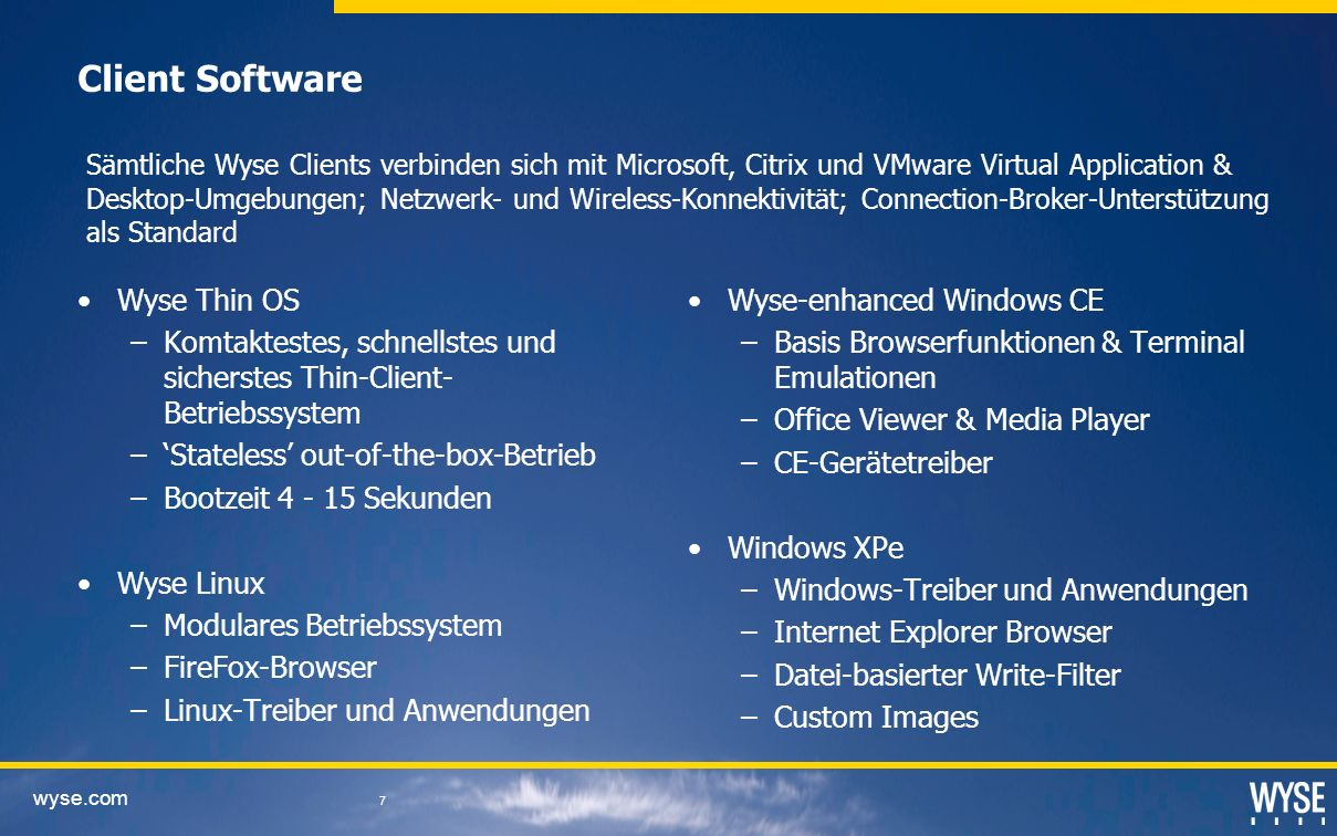 Client Software Wyse Thin OS