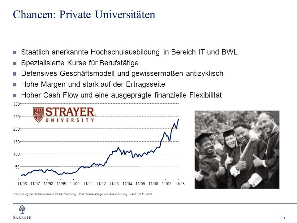 Chancen: Private Universitäten