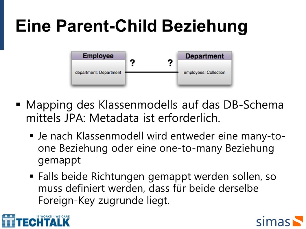 Eine Parent-Child Beziehung