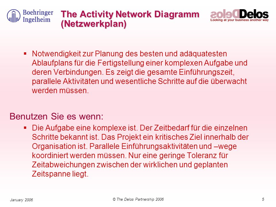 The Activity Network Diagramm (Netzwerkplan)