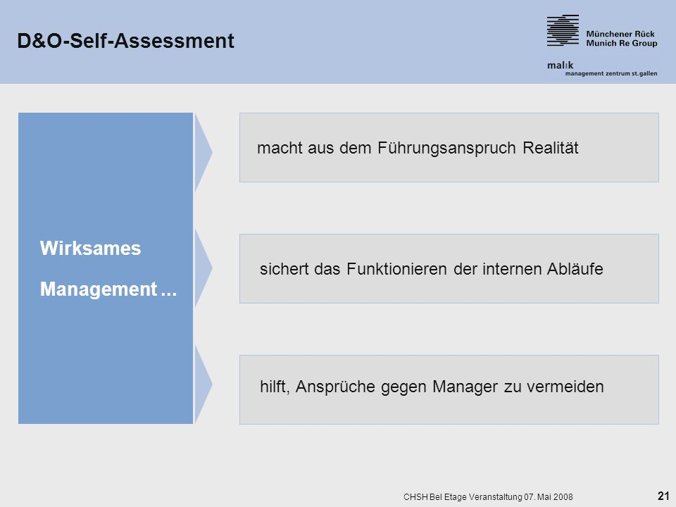 D&O-Self-Assessment Wirksames Management ...