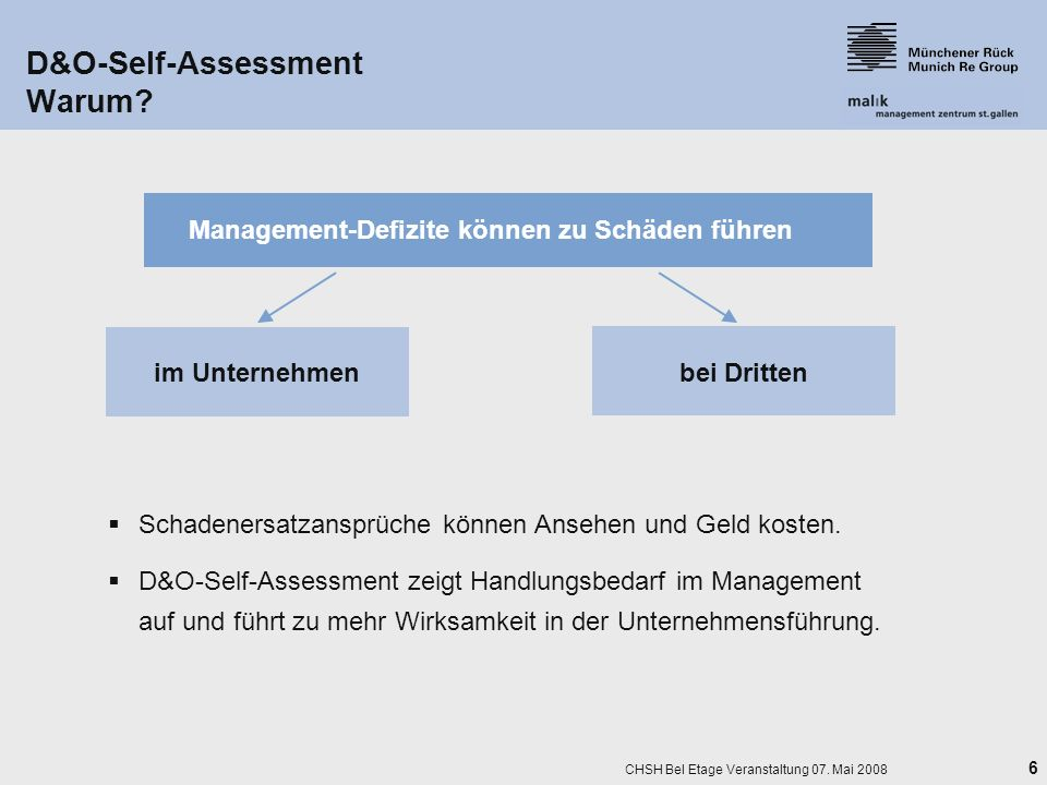 D&O-Self-Assessment Warum