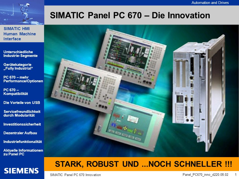 SIMATIC Panel PC 670 – Die Innovation