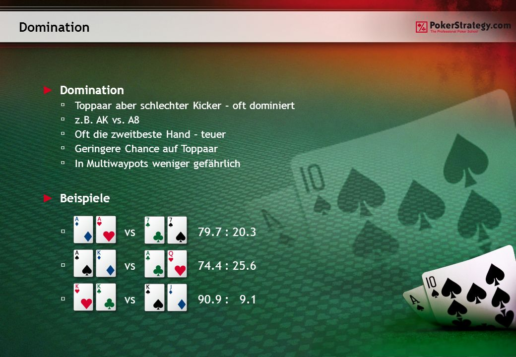 Domination Domination Beispiele vs 79.7 : 20.3 vs 74.4 : 25.6