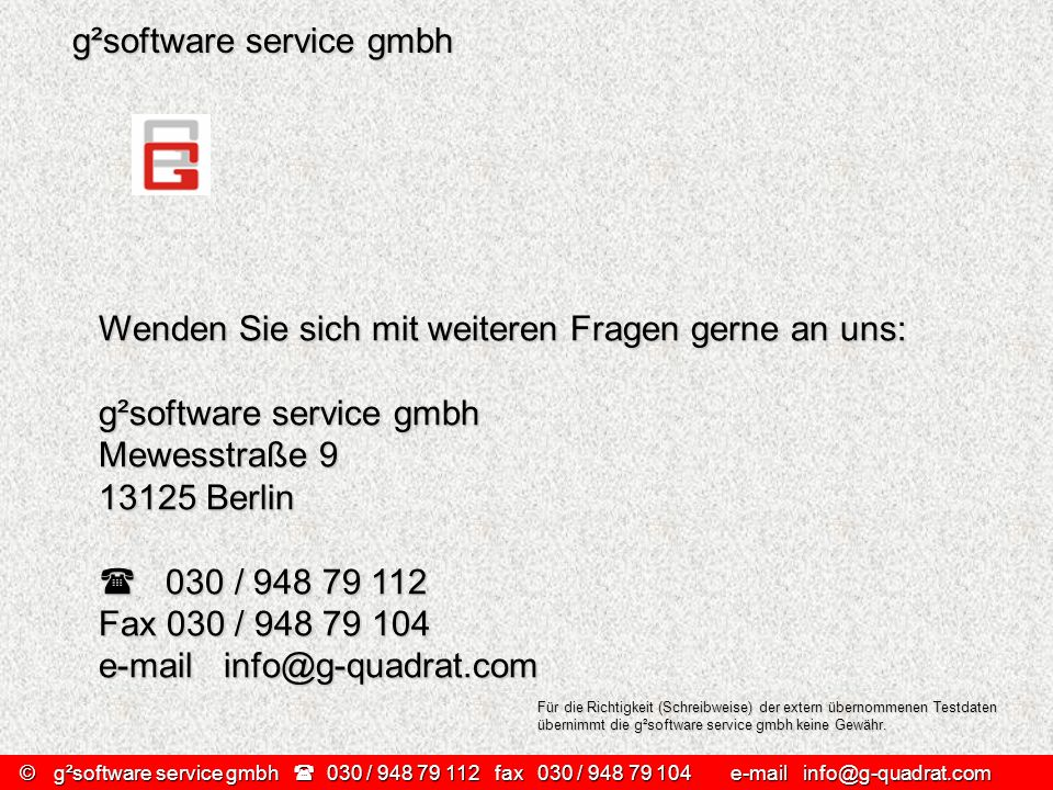 g²software service gmbh