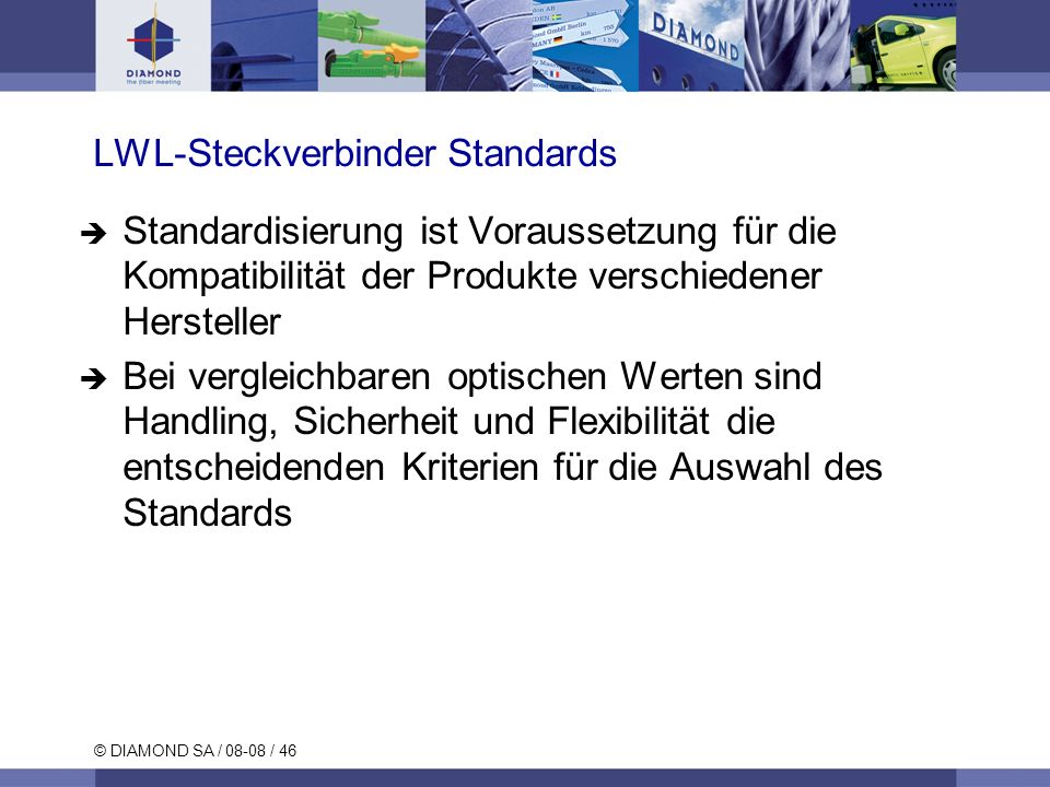 LWL-Steckverbinder Standards