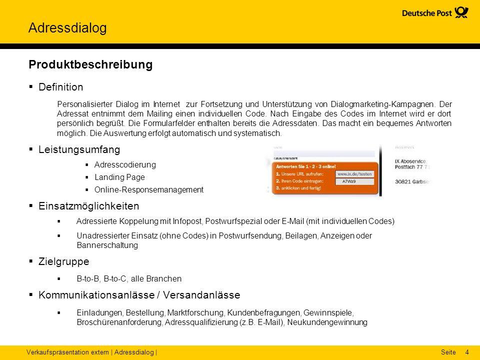 Verkaufspräsentation Adressdialog - ppt video online herunterladen