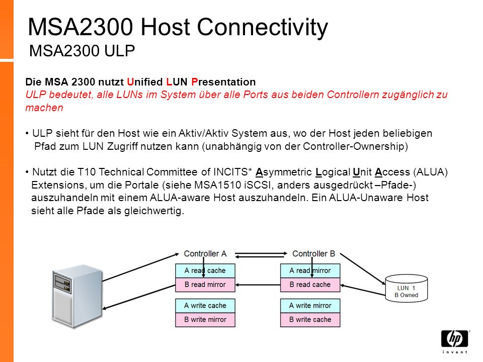 MSA2300 Host Connectivity MSA2300 ULP