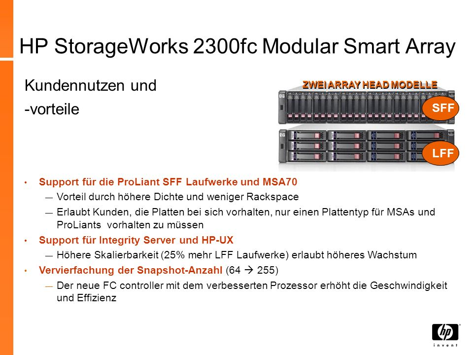 HP StorageWorks 2300fc Modular Smart Array