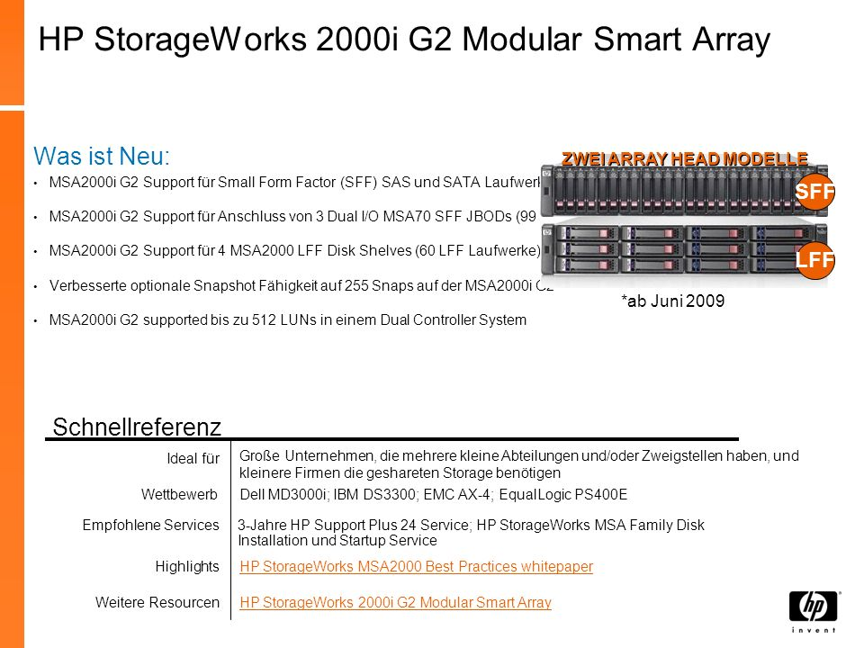 HP StorageWorks 2000i G2 Modular Smart Array