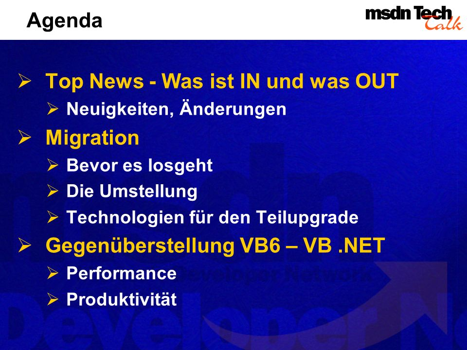 Top News - Was ist IN und was OUT Migration