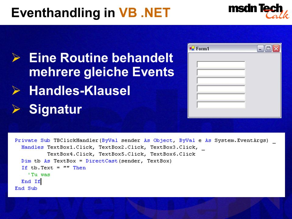 Eventhandling in VB .NET