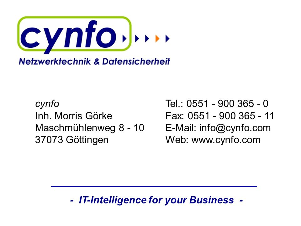 - IT-Intelligence for your Business -